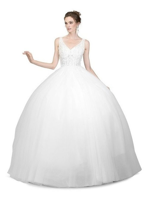 Classic Vintage Corset Designed Ball Wedding Gown