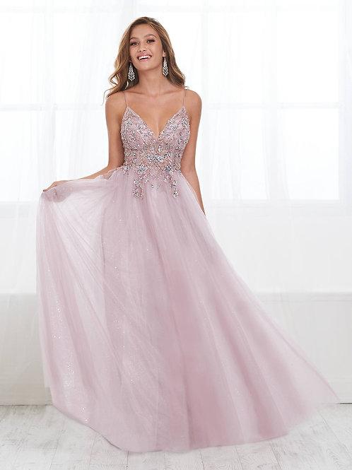 16407 Tiffany Design - Spaghetti Strap Sweetheart Sequins Beaded Prom Dress