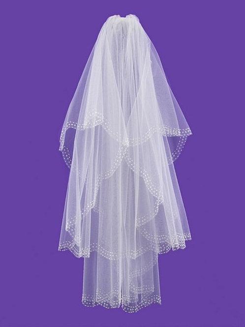 Veil V1022 Beaded Sequin Edge