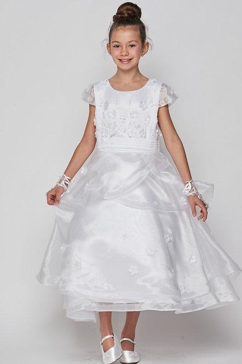 Multi Layered Organza Designed Communion Dress by Cinderella
