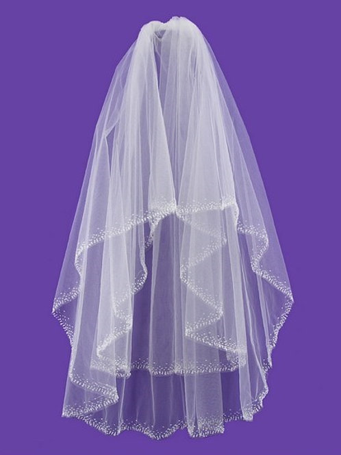 Veil V1027 Embroidery Sequins Pearl