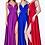 Thumbnail: Flowing Soft Satin Spit Spaghetti Strap Prom Dress