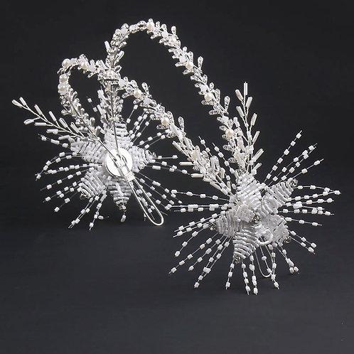 Star-muff Beaded Rhines Pearl Bridal Headbands