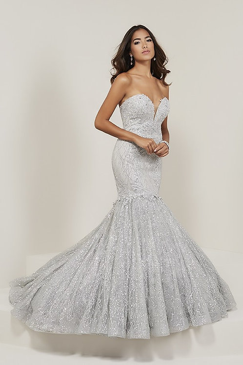 16343 Tiffany - Sweetheart Sparkling Tulle Mermaid Prom Dress