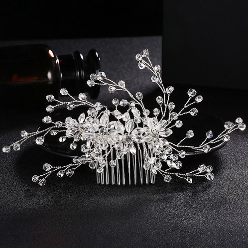 Multi Rhinestone String Hair Comb - 2pc