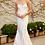 Thumbnail: Spaghetti Strap Drape Neckline Mermaid Wedding Gown