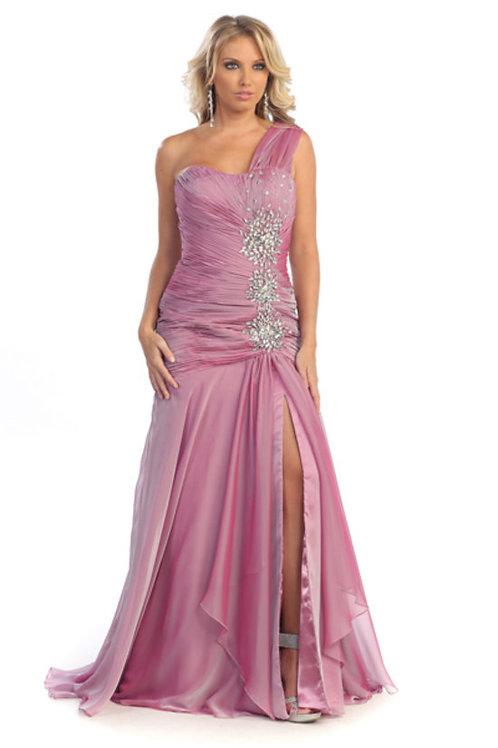 Chiffon Shoulder Strap Sweetheart Long Prom Dress