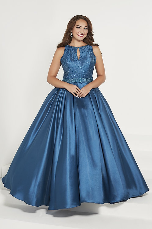 16386 Tiffany -   Sleeveless Keyhole Sparkling Ball Prom Dress