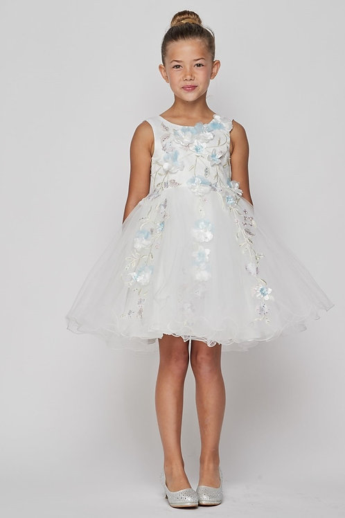 Floral Adorned with Pearls Flower Girls Dress by Cinderella