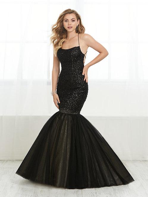 16406 Tiffany Design - Spaghetti Straight Neckline Mermaid Prom Dress