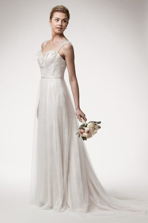Chantilly Sweetheart Lace Mermaid Wedding Gown