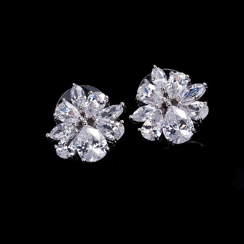 Cubic Crystal Stud Bridal Earring Jewelry