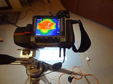 Thermal camera and 2 iPads