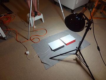 side-be-side iPads under daylight lamp