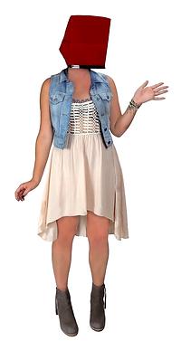 Hoodi for iPad-shaded woman in dress