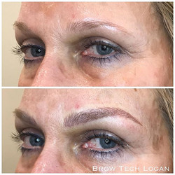 Brow lift anyone__ These blonde brows will fade 30-40 percent when completly healed! Can't wait to s
