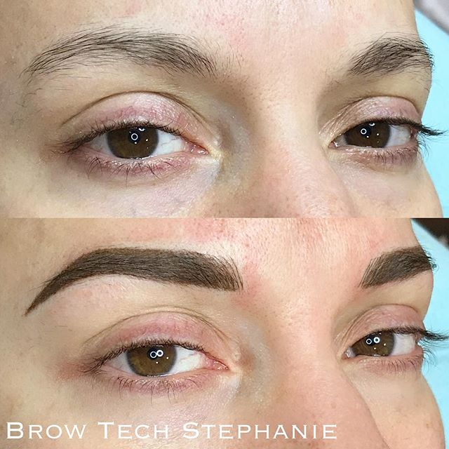 Today's beautiful brows by _stephanie.lynne