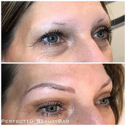 Today's soft and subtle brow transformation!_#houstonbrows #houstontx #houstonmicroblading #microbla