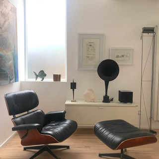 Eames Chair and antiques interior design