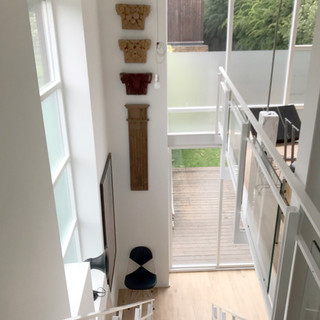 architectural interior double height space