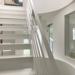 View of the stairs and void