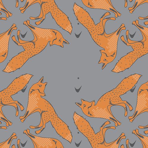 Fox Wallpaper on Grey