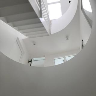 view up through the atrium