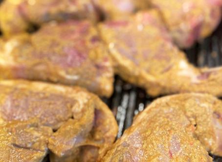 Twice marinated loin chops