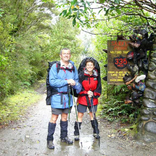 Finish of the Milford Track New Zealand