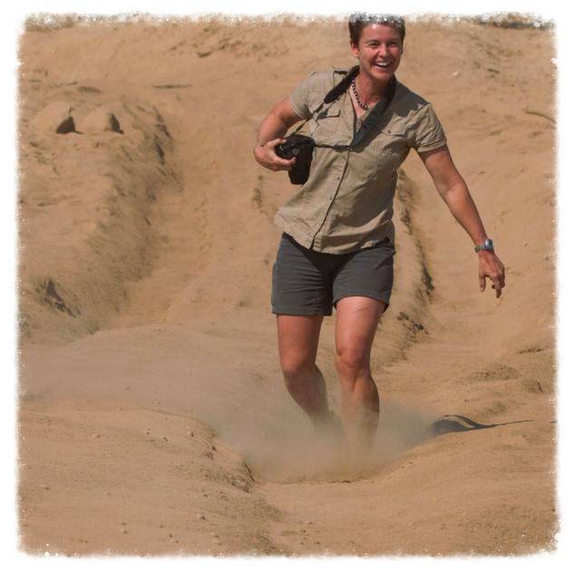 Linda in the Khowarib Schulct Namibia