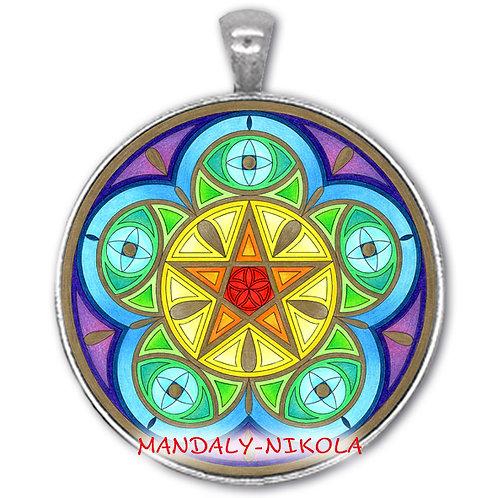 Mandala 2021 - Červen - přívěsek starostříbro