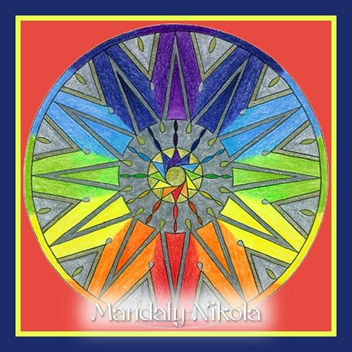 Čakrová hvězdná mandala
