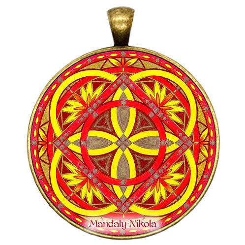 Mandala 2020 - Srpen - přívěsek bronz