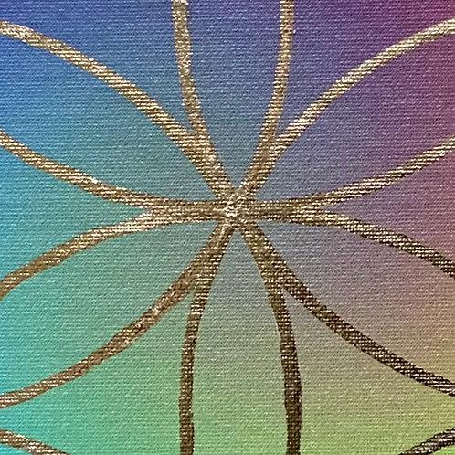 Posvátná geometrie - Květ života - Zlatý poklad vesmíru
