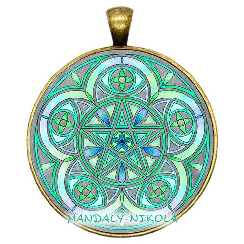 Mandala 2021 - Červenec - přívěsek bronz