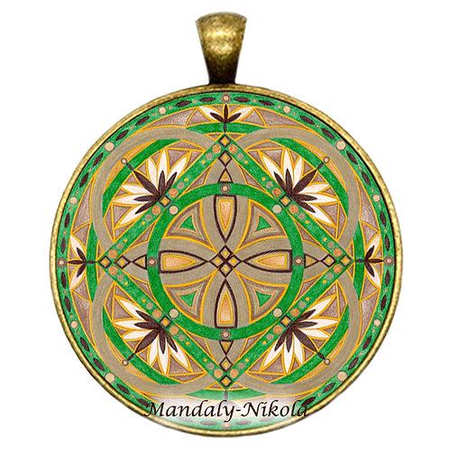 Mandala 2020 - Prosinec - přívěsek bronz
