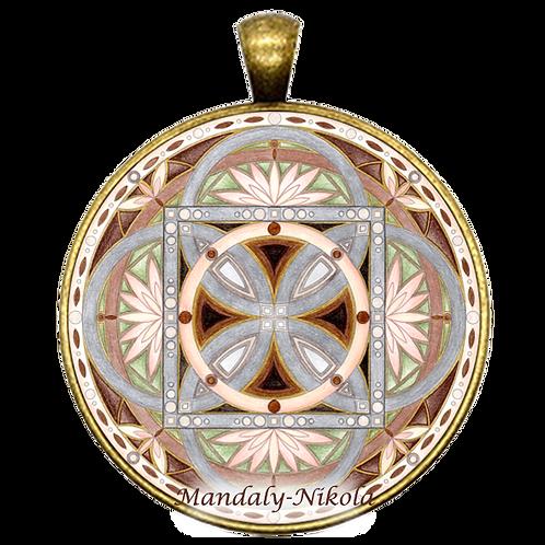Mandala 2020 - Listopad - přívěsek bronz