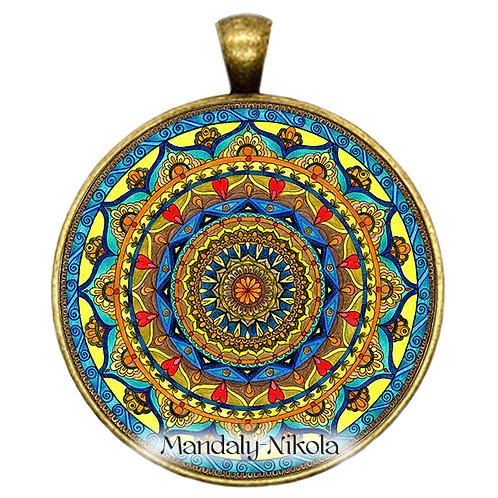 Mandala 2019 - Leden - přívěsek bronz