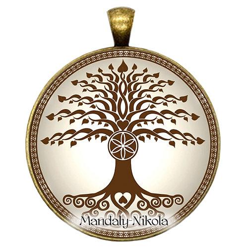 Strom života hnědý - přívěsek bronz