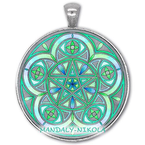 Mandala 2021 - Červenec - přívěsek starostříbro
