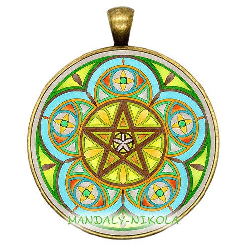 Mandala 2021 - Duben -přívěsek bronz