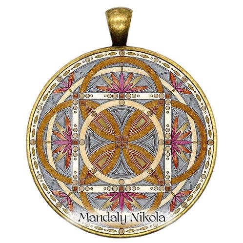 Mandala 2020 - Leden - přívěsek bronz