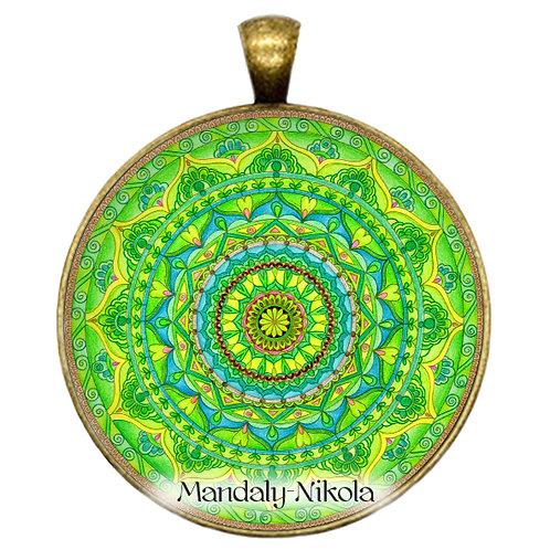 Mandala 2019 - Březen - přívěsek bronz