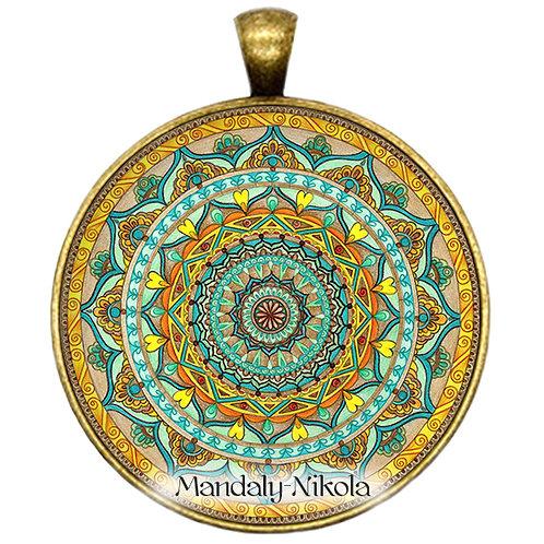 Mandala 2019 - Duben - přívěsek bronz