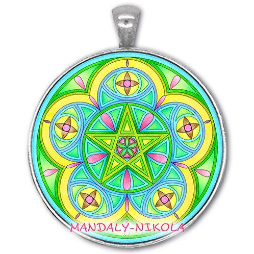 Mandala 2021 - Květen - přívěsek starostříbro
