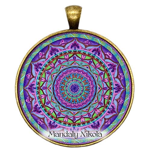 Mandala 2019 - Říjen - přívěsek bronz