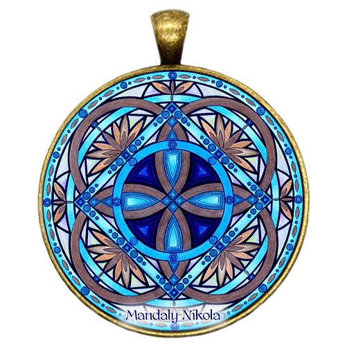 Mandala 2020 - Červen - přívěsek bronz