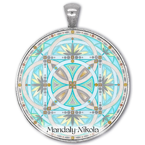 Mandala 2020 - Březen - přívěsek starostříbro