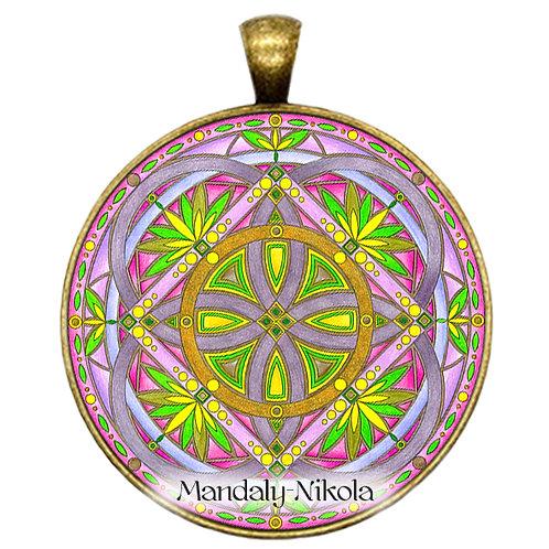 Mandala 2020 - Duben - přívěsek bronz