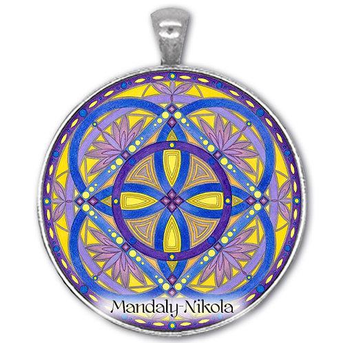 Mandala 2020 - Únor - přívěsek starostříbro